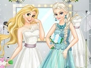 Have a great time playing this new Dress Up game called Disney Princess Wedding Models on GamesGirlGames.com.  Princesses are already used to shine on the fashion runways all around the world. Our two beauties agreed to pose on the cover of the most popular wedding magazine! It's an unique opportunity to try on all the cutest wedding dresses before your wedding day. Choose the perfect dress, the gorgeous hairstyle and, of course and accessories. In the end you can see your masterpiece on the cover of Wedding magazine.