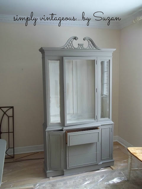 painted, antique buffet, hutch, before,after,ascp,french linen,old white,