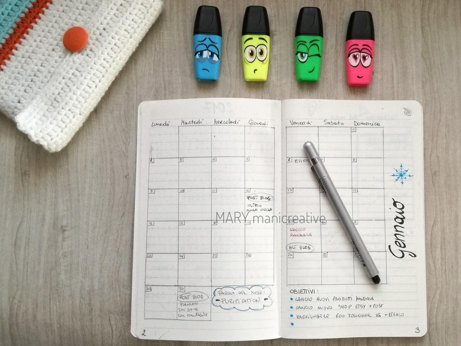 Amato Mary mani creative: Come creare un'agenda personalizzata ZJ18