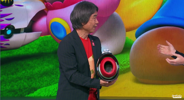 Shigeru Miyamoto Ubisoft E3 2017 Mario + Rabbids Kingdom Battle Blaster arm cannon
