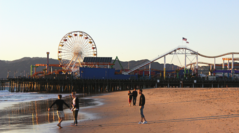 santa monica pier pictures california los angeles