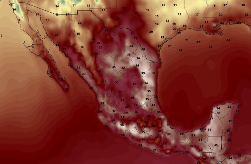 Prevedono temperature superiori a 40°C in questi stati del Messico.