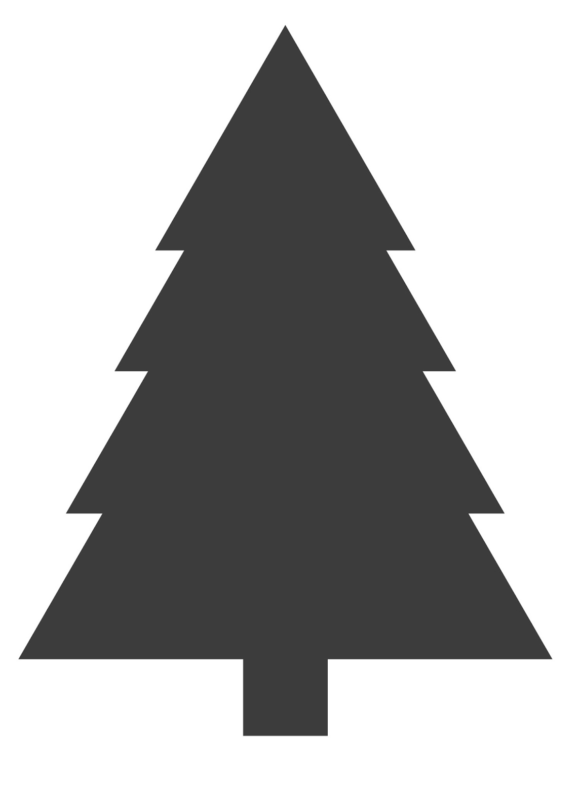 print A4 zwarte kerstboom ElsaRbloguit.
