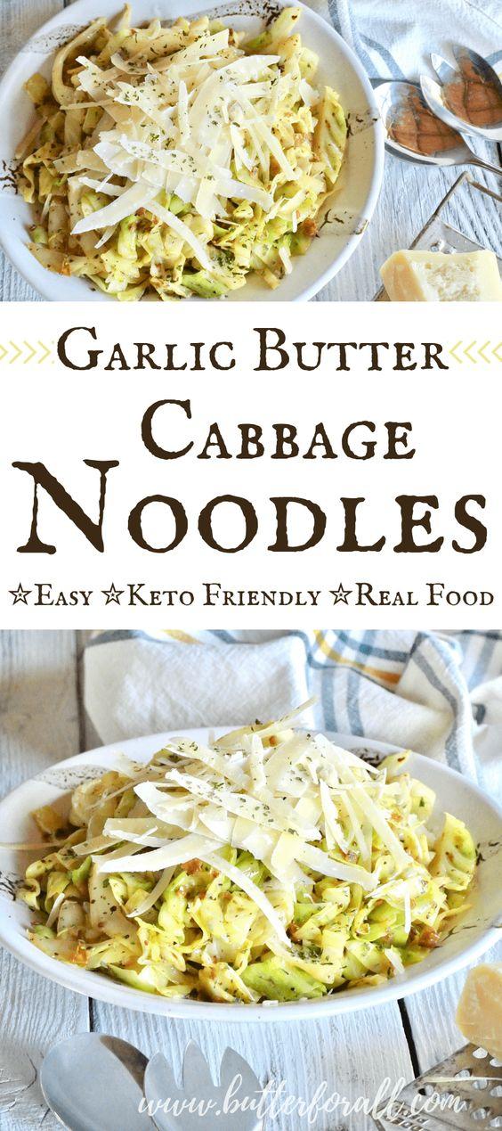 Garlic Butter Cabbage Noodles