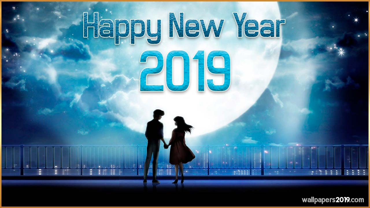 Happy New Year 2019 Wallpaper Couple
