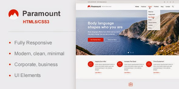free Responsive HTML Template