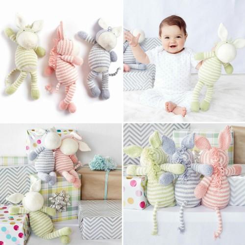 Knit Zebra Toy - Free Pattern