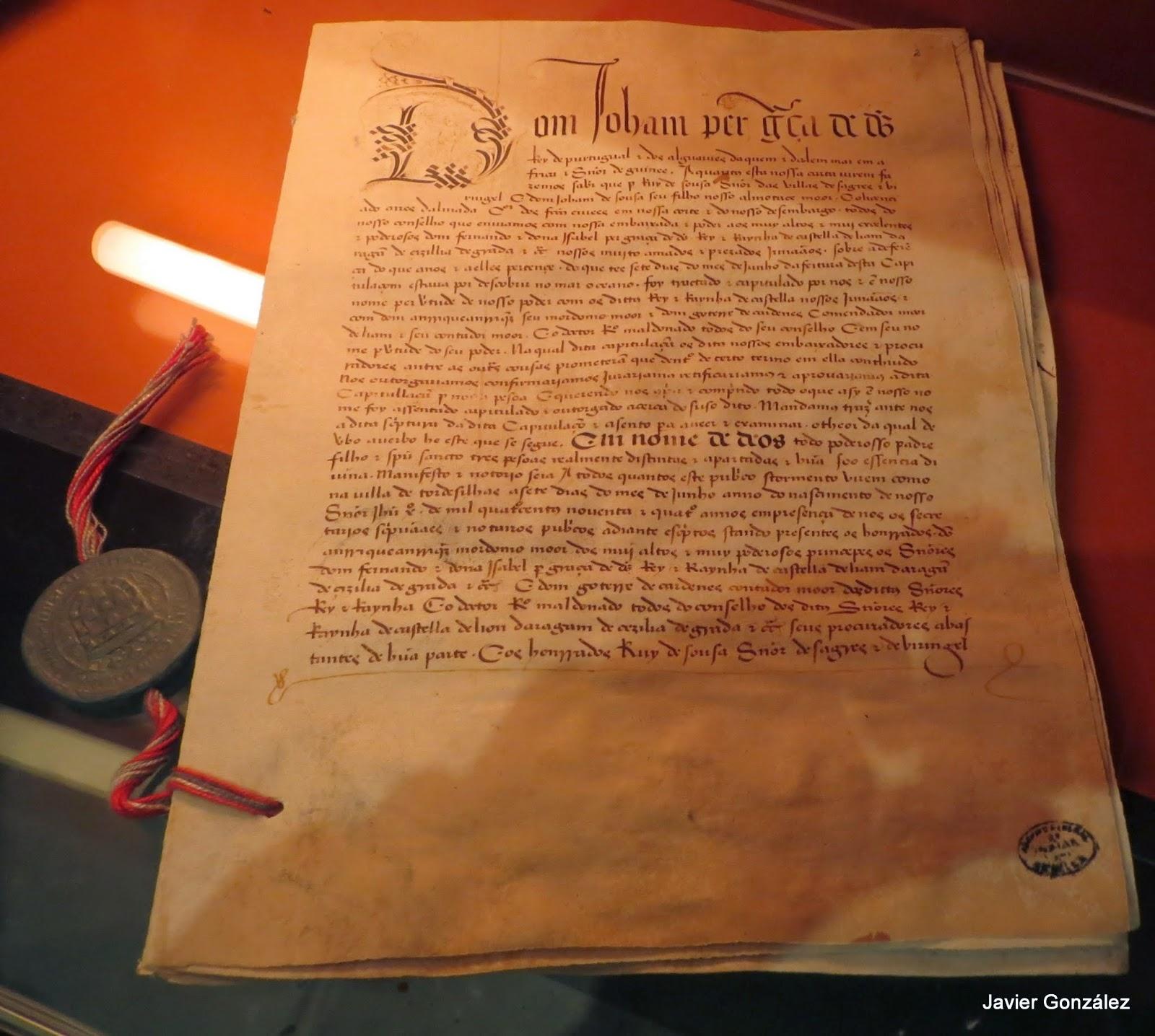Ruta de Isabel. Tratado de Tordesillas