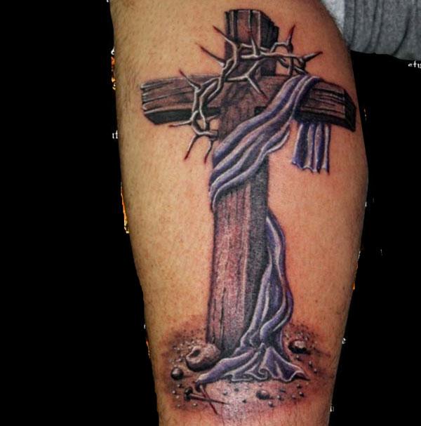 Tattoo Designs Cross: Wooden Cross Tattoos