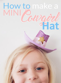 4a568dabf7cbb How to make a Mini Cowgirl   Cowboy Hat DIY