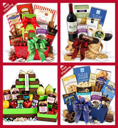gourmet gift baskets collage