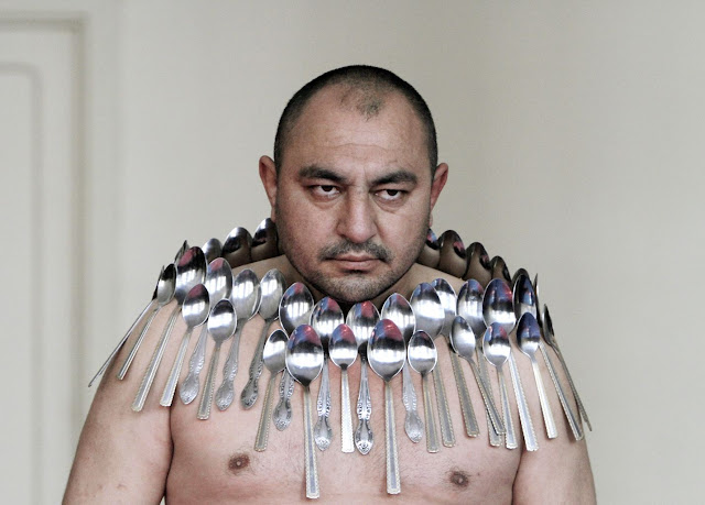 "Guinness World Record for ""Most spoons on a human body"""