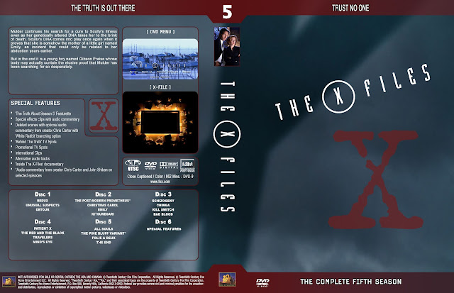 The X Files Season 5 DVD Cover