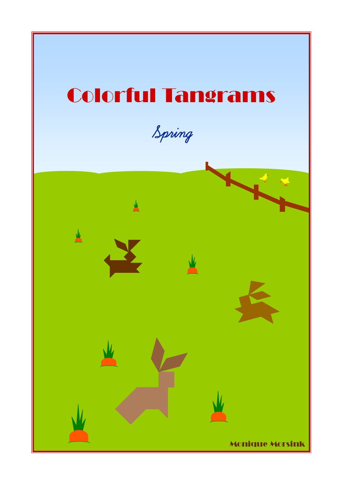 Colorful Tangrams Spring Easter