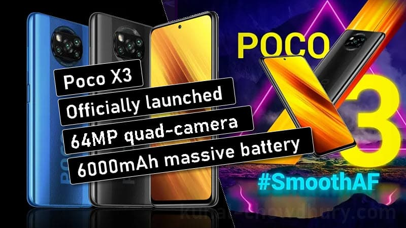 Poco X3 with 64MP Camera, 6,000mAh battery Launched in India: Specifications, Price