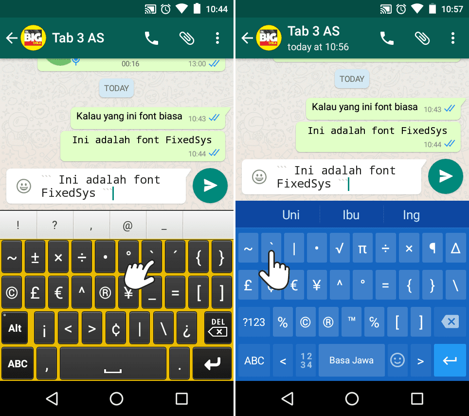 mengganti font WhatsApp Android