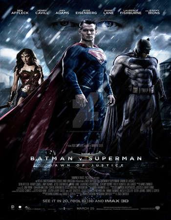 Batman v Superman Dawn of Justice 2016 Hindi Dubbed 850MB DVDScr