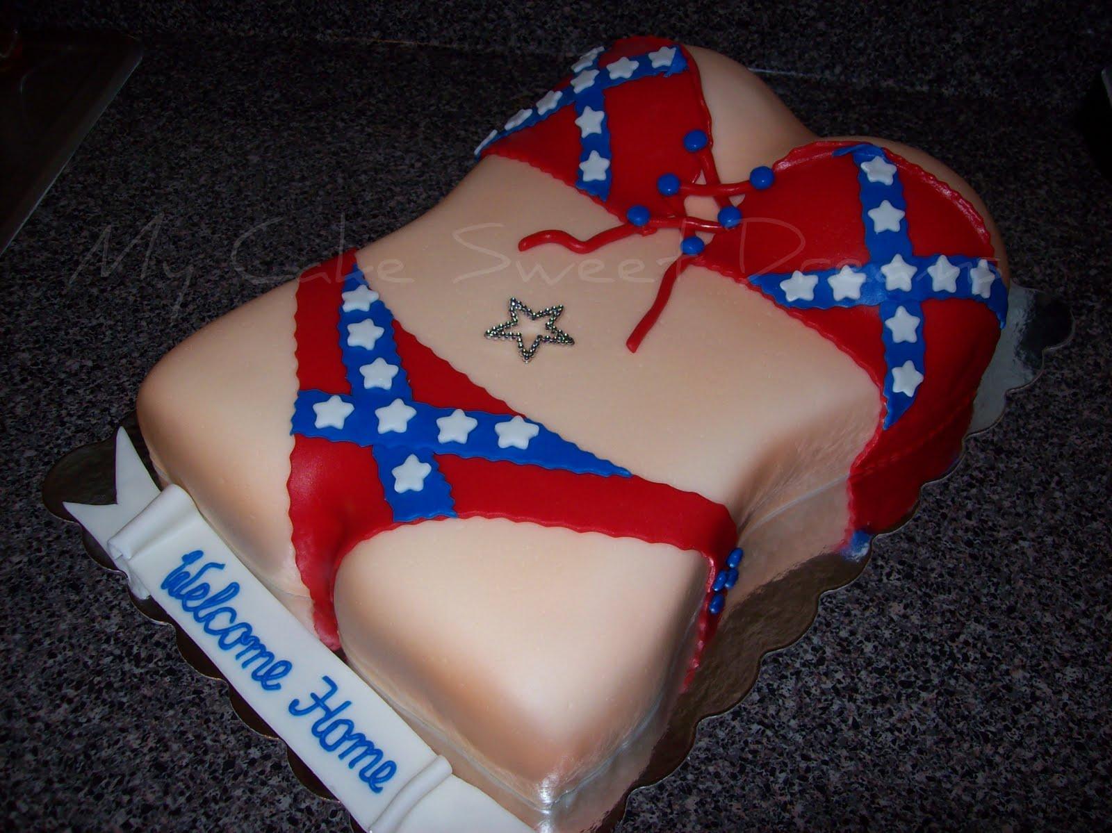 My Cake Sweet Dreams: Rebel Flag Bikini Cake