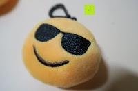 """cool: Smakey®2""""mini Emoji Gesicht Express Plüsch Spielzeug Schlüssel Kette Tasche Zubehör Satz von 7"""