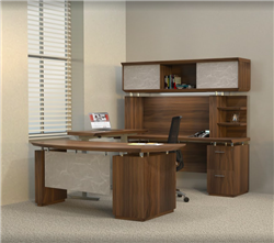 Sit To Stand Office Furniture Set - Executive Interior - Mayline Sterling