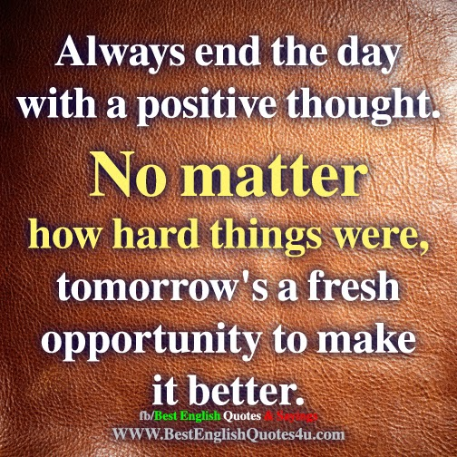 End Day Positive Quotes