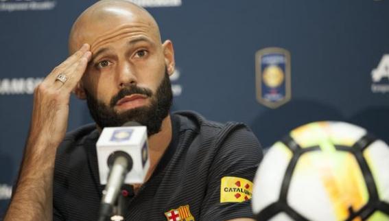 AGEN BOLA - Javier mascherano Resmi Hengkang Dari Blaugrana