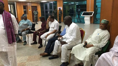 See Lawmakers At Senate Entrance To Stop Saraki's Impeachment