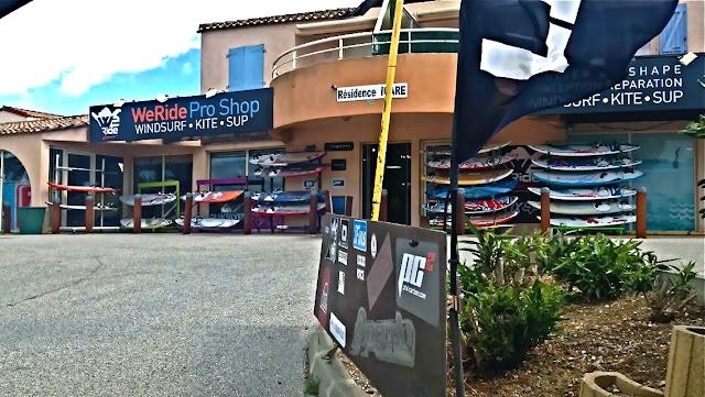WeRide pro shop : windsurf, kitesurf et SUP à Leucate