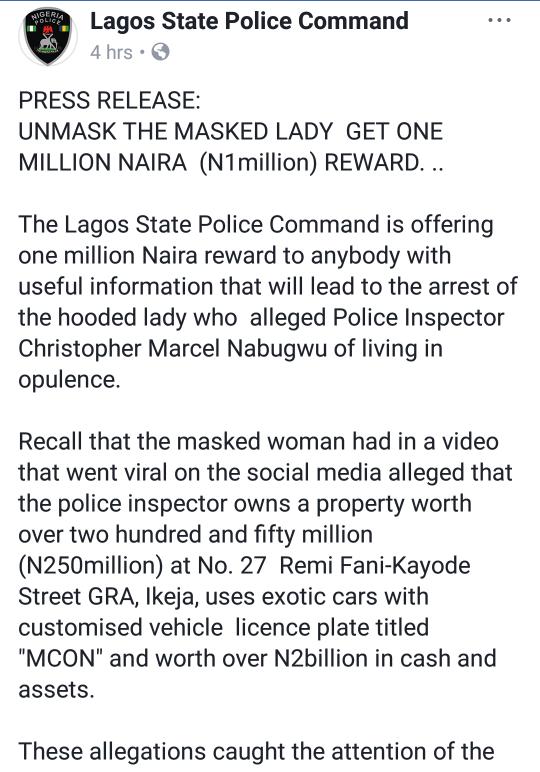 Stella Dimoko Korkus com: Police Offer One Million Naira Bounty To