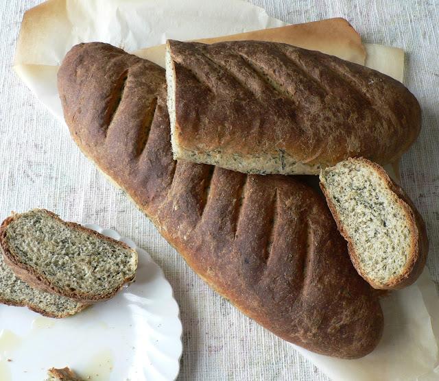 Whole Wheat Spinach Bread recipe