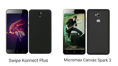 Swipe Konnect Plus Vs Micromax Canvas Spark 3