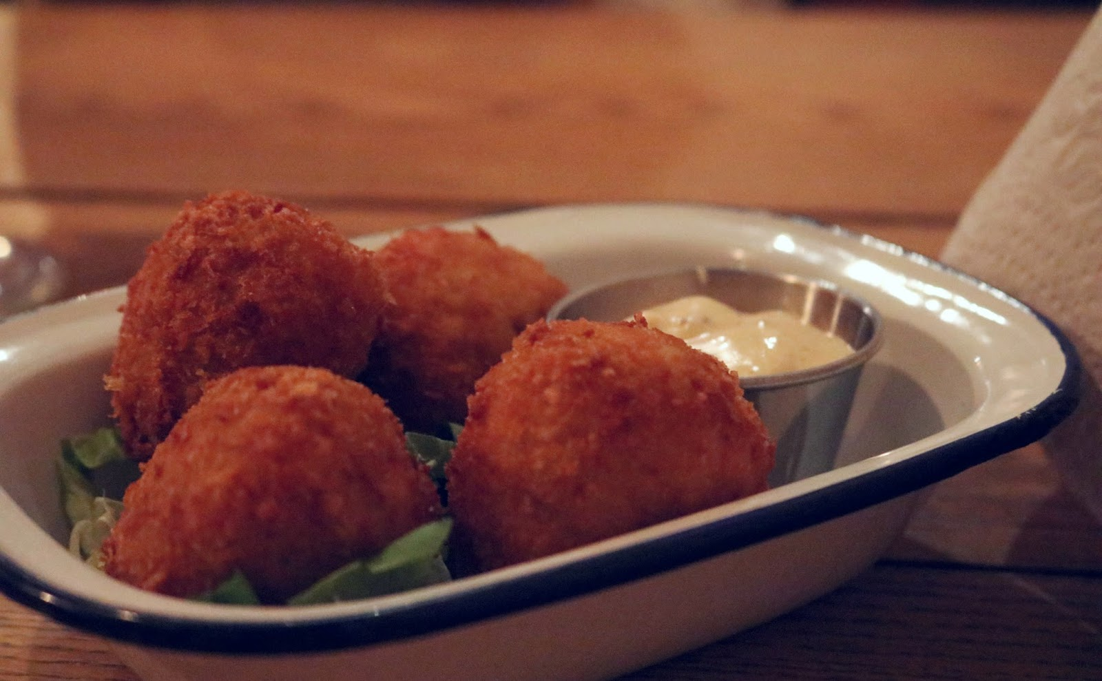 Macaroni Cheese Balls at Fat Hippo Underground