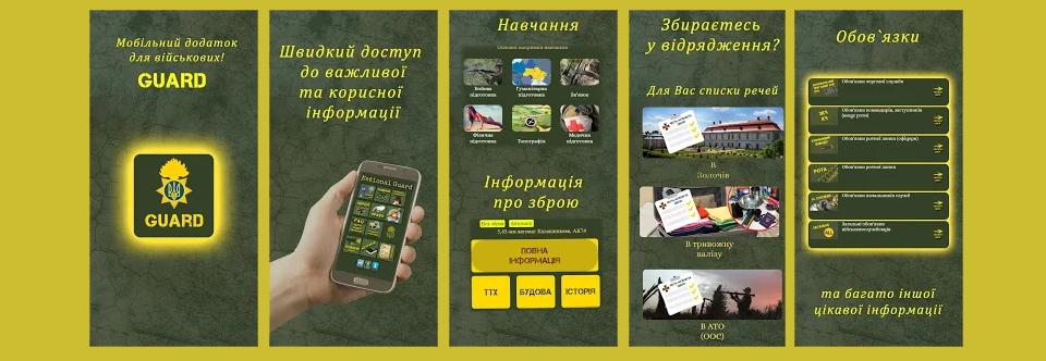 Мобільний додаток для нацгвардійців