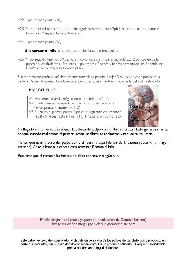 Patrón pulpo solidario -NOUPOPS-