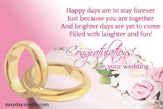 congratulations on your wedding wishes messages