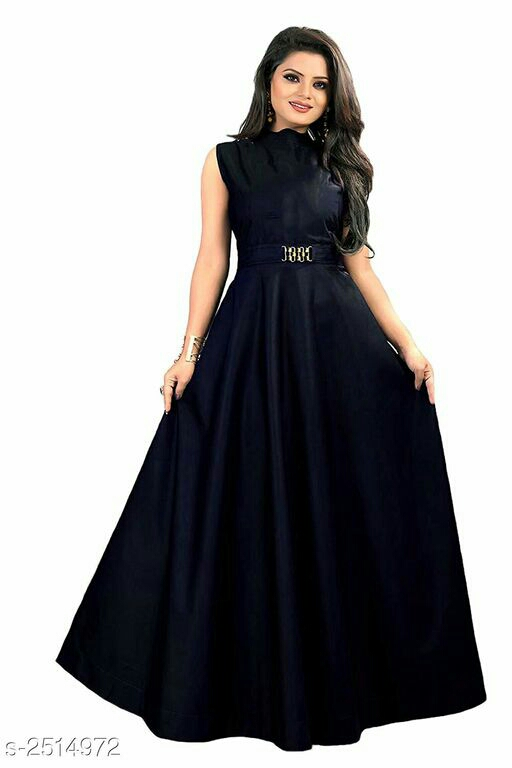 Attractive Taffeta Silk Western Gown
