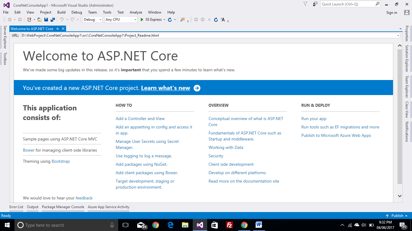 introduction to .net core