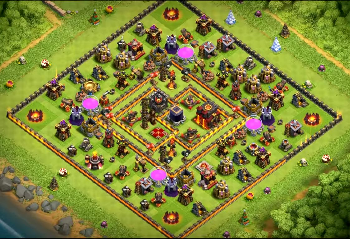 coc th10 farming base anti everything