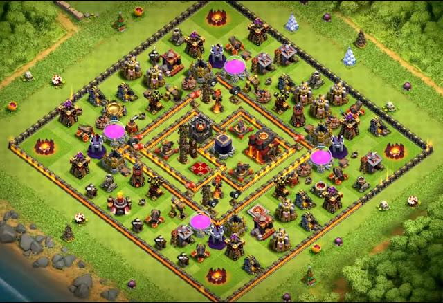 coc th10 farming base anti everything