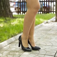 Pantofi dama Duarte negri cu toc gros • modlet