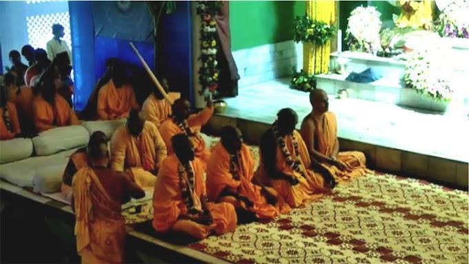 Four Devotees Accept Sannyasa on Gaura Purnima in the ISKCON Sri Mayapur Candrodaya Mandir
