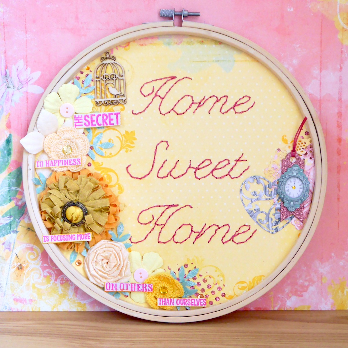 Bobunny Home Sweet Home Embroidery Hoop With Katherine