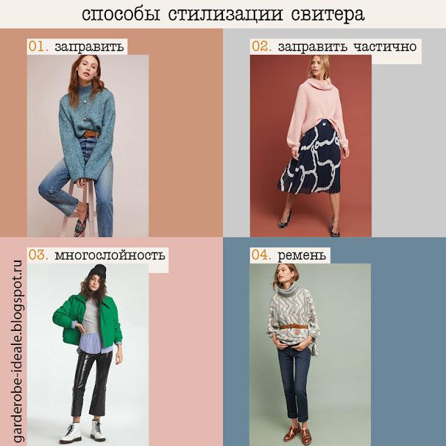 Как стилизовать свитер и как его носить