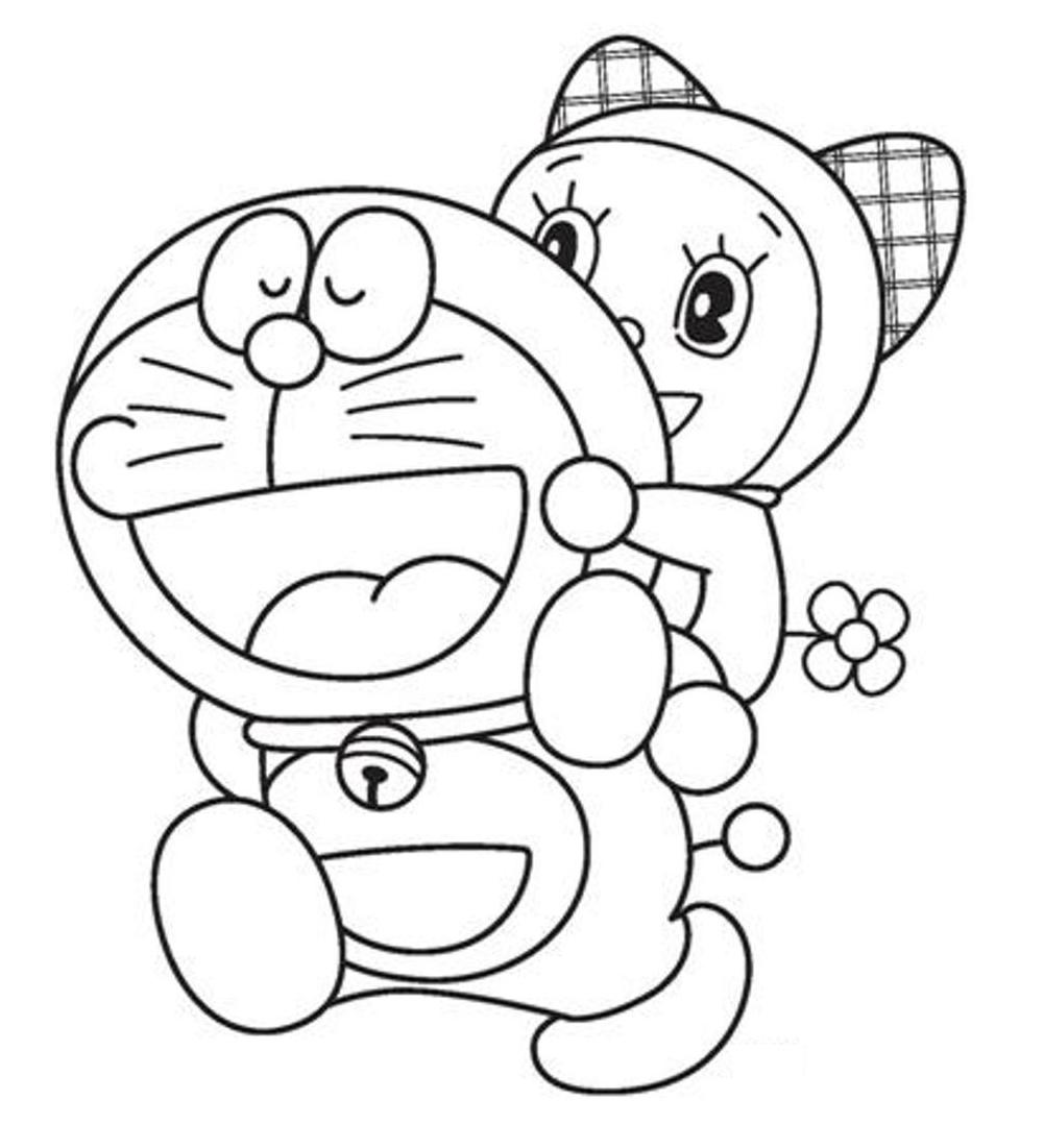 Sketsa Gambar Kartun Doraemon Lucu Doraemon Hitam Putih
