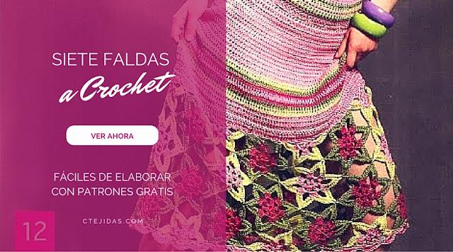 7 Hermosas Faldas  a Crochet Súper Fáciles de Hacer