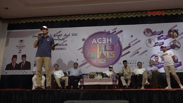 VIDEO: Sandiaga Motivasi Milenial Aceh