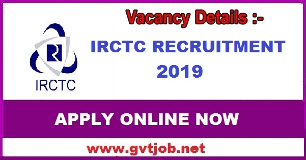 IRCTC Recruitment 2019 Posts 50 Know How To Apply Sarkari Jobs