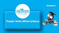 Punjab Verka Milfed Clerk Syllabus