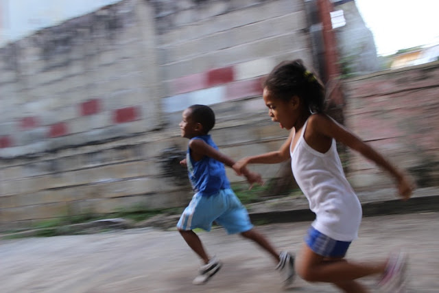 Programming for Fun and Profit - Two kids running for fun and profit