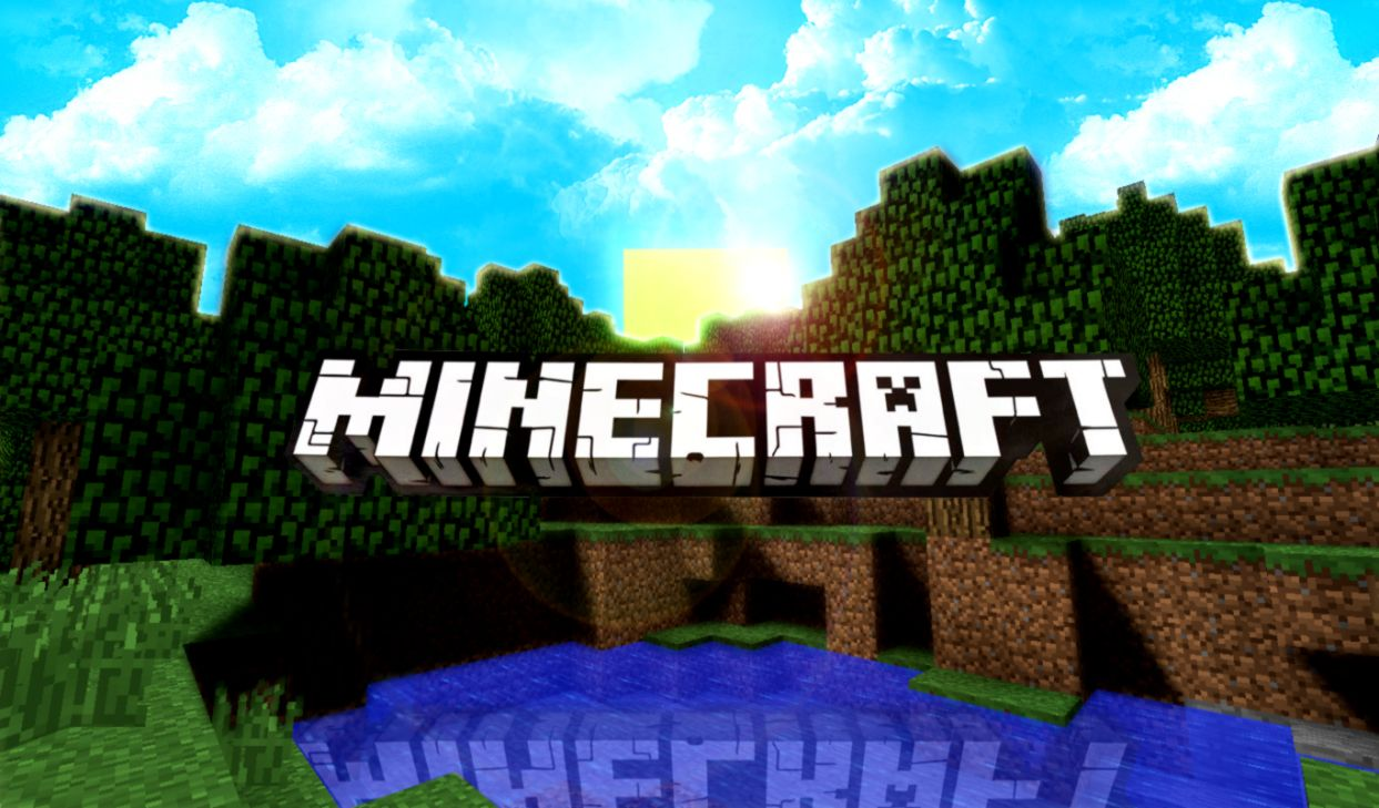 Minecraft Logo Wallpaper Wallpapers Collection